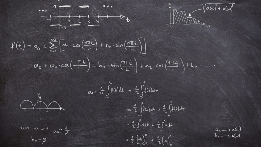 SOU lectures-calculations on chalkboard