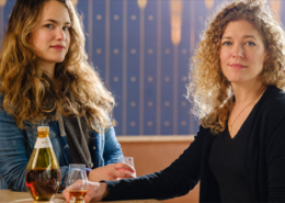 Molly Troupe and Jill Kuehler from Travel Oregon story on distilling
