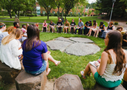 Students in outdoor classroom at SOU, ranked among top 20 U.S. public liberal arts colleges