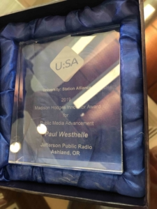 Westhelle receives public radio innovation award