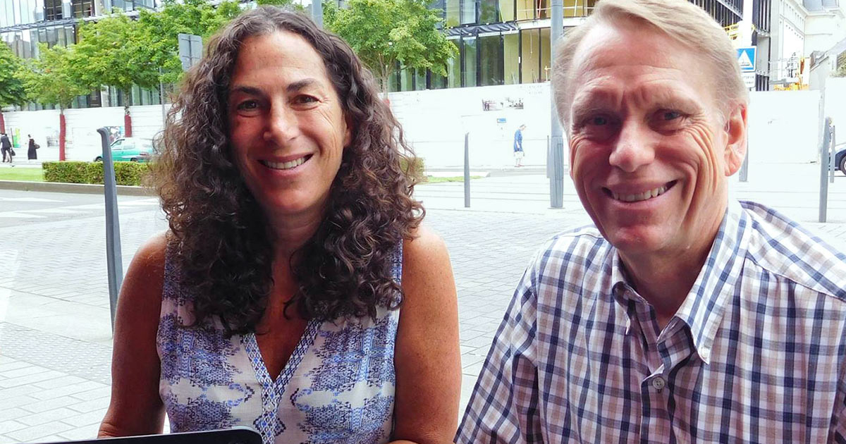 Marianne Golding (pictured with Dan Morris) will offer a Campus Theme lecture