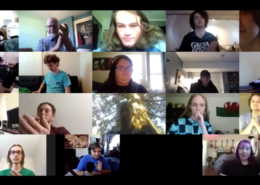 Virtual meeting of SOU Percussion Ensemble