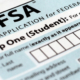 FAFSA form for financial assistance