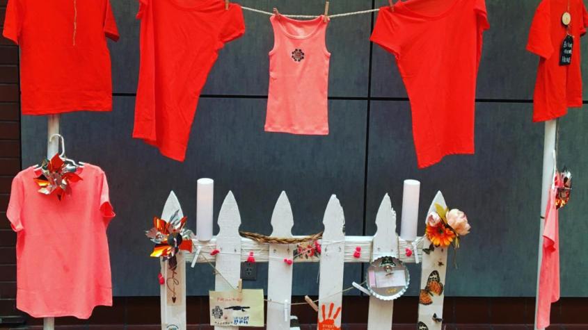 Boarding School art display at SOU